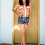 Meu Look: Stripes & Spikes!