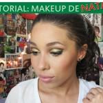 Maquiagem com Glitter Dourado para o Natal!