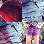 DIY: Tie Dye em Shorts!