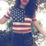 Meu Look: American Flag!