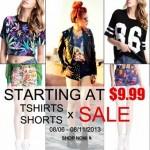 Promoção T-SHIRTS & SHORTS da Romwe!