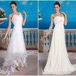 Escolhendo o melhor vestido para um casamento tropical.
