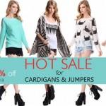 Promoção Romwe! Cardigans e Jumpers 50% OFF