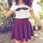 Meu Look: Sweet Round Skirt!