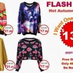 FLASH SALE ROMWE: Peças a partir de $13,99