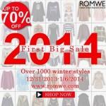 Primeira grande promoção de 2014 na Romwe!