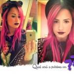 Demi Lovato de cabelo rosa!