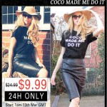 "Sorteio: T-Shirt ""Coco made me do it"", Romwe"