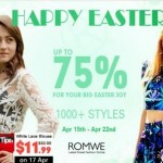 Promoção de Páscoa na Romwe!