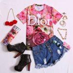 T-shirt Dior na Romwe