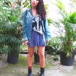 Meu Look: Gatinhos e camisa jeans