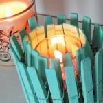 DIY: Porta Velas de Pregadores