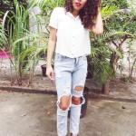 Meu Look: Calça Jeans Destroyed